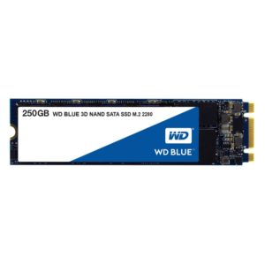 SSD|WESTERN DIGITAL|Blue|250GB|M.2|SATA 3.0|TLC|Write speed 525 MBytes/sec|Read speed 550 MBytes/sec|2.3mm|TBW 100 TB|MTBF 1750000 hours|WDS250G2B0B