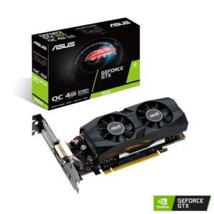 Graphics Card|ASUS|NVIDIA GeForce GTX 1650|4 GB|128 bit|PCIE 3.0 16x|GDDR5|Memory 8002 MHz|GPU 1515 MHz|Dual Slot Fansink|1xDVI|1xHDMI|1xDisplayPort|GTX1650-O4G-LP-BRK