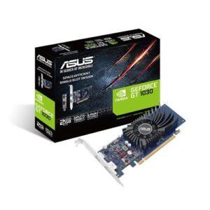 Graphics Card|ASUS|NVIDIA GeForce GT 1030|2 GB|64 bit|PCIE 3.0 16x|GDDR5|Memory 6008 MHz|GPU 1266 MHz|Single Slot Fansink|1xHDMI|1xDisplayPort|GT1030-2G-BRK