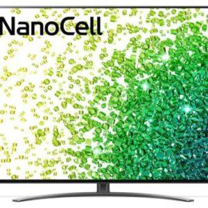 TV Set LG 50″ 4K/Smart 3840×2160 Wireless LAN Bluetooth webOS Black 50NANO863PA